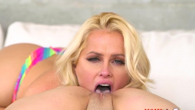 Tight Haley Mae is licked by her BF's mom Alena Croft