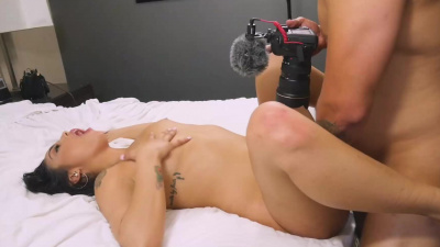 Vanessa Sky giving head & fucking & eating all the cum on cam