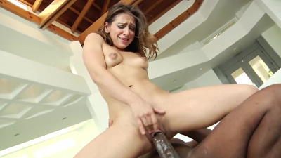 Sara Luvv chokes & rides on the biggest bbc in her first ir scene