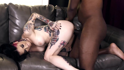 Joanna Angel taking up her butt the biggest black dick