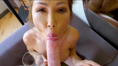 Asian milf Kianna Dior suck & fuck her stepson in the bathtub