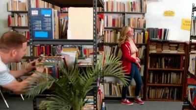 Kara Lee sucking dick & fucking in the library