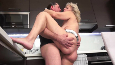 Horny granny is obsessed with younger hard dicks