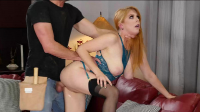 Blue collar stud takes care of Penny Pax' wet hot pussy