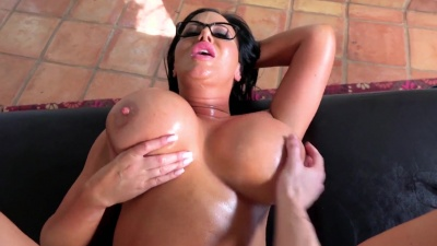 Mother's day oiled massage ends into hardcore anal for busty Sybil Stallone
