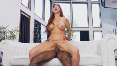 Beauteous milf Syren De Mer having sex with her daughter's black bf