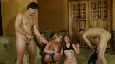 Pretty milfs Lucy Foxx and Rachael Cavalli have an awesome orgy