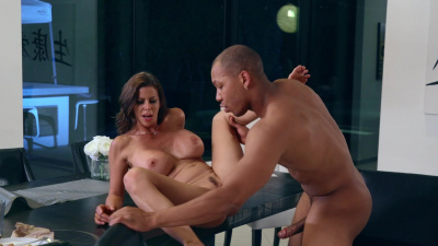 Incredible con-woman Alexis Fawx strikes a deal with rich black stud