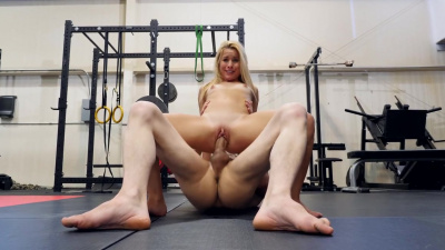 Lilly Lit hits the pads and gets horny rolling around with her trainer