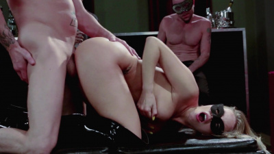 Britney Amber and Nikki Daniels masquerade orgy