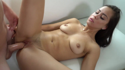 Alina Lopez warms up her pussy with a dildo before having passionate sex