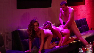 Hot babes go wild on a glamorous swinger party