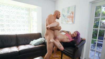 Petite Val Steele takes big cock deep in her vagina