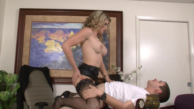 Dean Cory Chase hops on the student's big dick