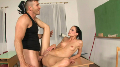 Ms. Liz Valery gives her student an anal lesson