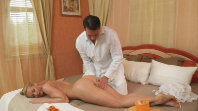 Kathia Nobili doing naughty thnigs with masseur