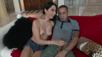 Rachel Rose takes a ride on her ex's friend's massive dong in the living room