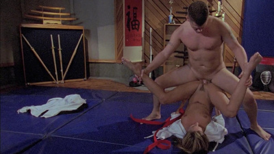 Kirsten Price submits to her martial arts teacher