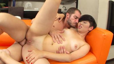 Asian Netta takes big cock up her ass