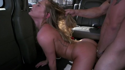 Carter Cruise getting random dicks to suck and fuck on the backseat